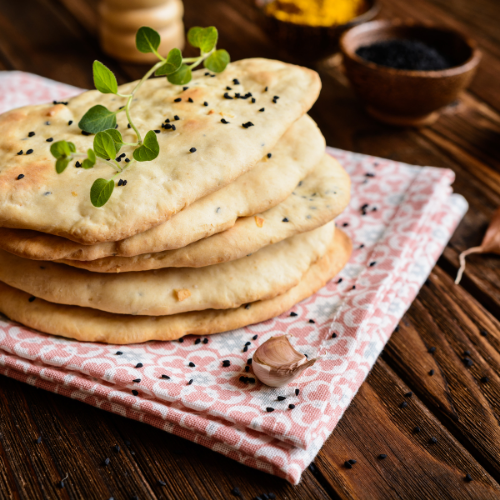 Calories in a tradition naan and fun facts with recipe